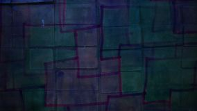 Video motion graffiti square mesh avant-garde art stock video footage