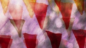 Video motion graffiti triangle  ornament night. Video motion graffiti triangle   ornament  night light  moves along  wall abstract background pattern hd stock footage