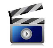 Video movie clipper illustration design. Over a  white background Stock Image
