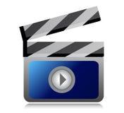 Video movie clipper illustration design Stock Image