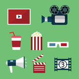 Video and Movie icons set. Royalty Free Stock Image