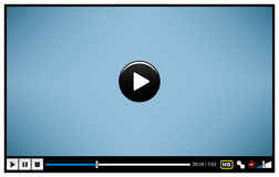 Video Movie Media Player. A video player design for presentation purposes Stock Photos