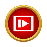 Video movie media player icon, simple style Stock Photo