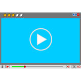 Video movie media player interface. Stock Images