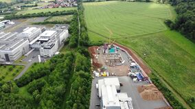Video mp4 Construction of a wood energy plant.