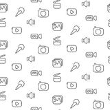 Video and multimedia seamless pattern Stock Images