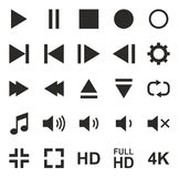 Video Or Music Or Camera Button Icons Stock Photography