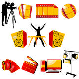 Video and music icons Stock Photos