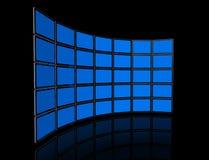 Video muur van de vlakke TVschermen Royalty-vrije Stock Foto