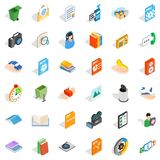 Video observation icons set, isometric style. Video observation icons set. Isometric set of 36 video observation vector icons for web isolated on white Royalty Free Stock Photos