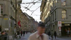Video of old city of Bern. Swiss (Switzerland) stock footage