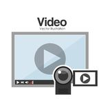 Video online design Stock Photography