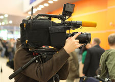 Video operator Stock Photo