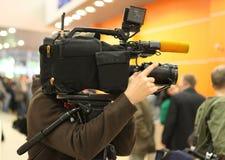 Video operator Stock Photo