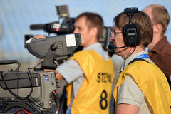 Video operators at work Royalty Free Stock Images