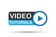 Video orubblig symbol på vit bakgrund konstruktionsillustrationmateriel under vektor royaltyfri illustrationer
