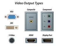 Video Output Types Stock Photography