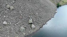 Video på Wastwater sjön den djupaste sjön i området Cumbria för sjö för högst berg för England Scafell pik arkivfilmer