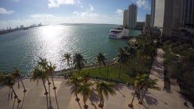 Video parco aereo Miami di Bayfront stock footage