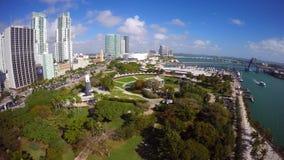 Video parco aereo Miami di Bayfront video d archivio