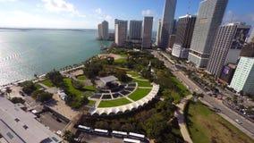 Video parco aereo Miami di Bayfront archivi video