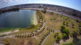 Video parco tropicale aereo Miami 4k archivi video
