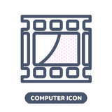 Video PC  icon in linestyle Stock Photos