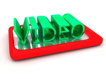 Video on Phone. An illustration of a video lettering on a gadget Stock Photos