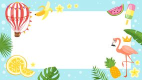 Video and photo frame background royalty free illustration