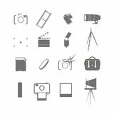 Video and photo icon set. On the white background Royalty Free Stock Photo