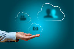 Video,photos and contacts Cloud synchronization Stock Photography
