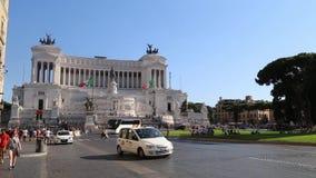 Piazza Venezia in Rome. Video of Piazza Venezia in Rome stock video footage