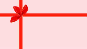 Video of Pink Gift Card with Red Ribbon stock video