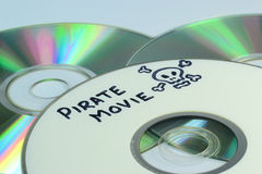Video piracy Royalty Free Stock Photo
