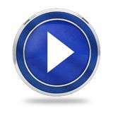 Video play button 3D royalty free stock photo
