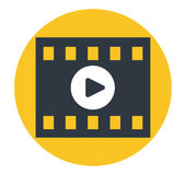 Video Play Icon. Design. EPS 8 supported Royalty Free Stock Photos