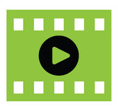 Video Play Icon. Design. EPS 8 supported Stock Image