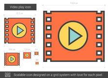 Video play line icon. Stock Photography