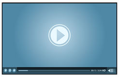 Video-Player Lizenzfreie Stockbilder