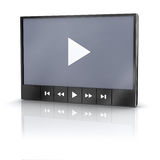 Video player Stock Image
