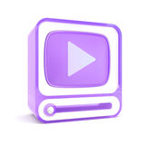 Video player. 3d Video player. Separated on white Royalty Free Stock Photos