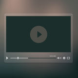 Video player royalty free illustration