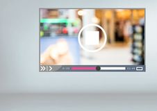 Video Player App Interface Royalty Free Stock Image