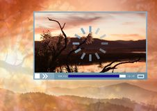 Video player App Interface with nature Royalty Free Stock Image