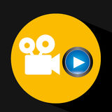 Video player button film camera icon graphic. Vector illustration eps 10 Royalty Free Stock Photos