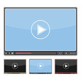 Video-Player-Design Lizenzfreie Stockbilder