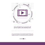 Video Player Entertainment Leisure Web Banner With Copy Space Stock Image