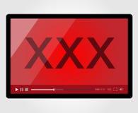 Video-Player für Netz, XXX Erwachsener Lizenzfreie Stockfotografie