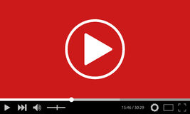 Video player flat design template for web and mobile apps Stock Photos