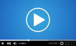 Video player flat design template for web and mobile apps Royalty Free Stock Photo